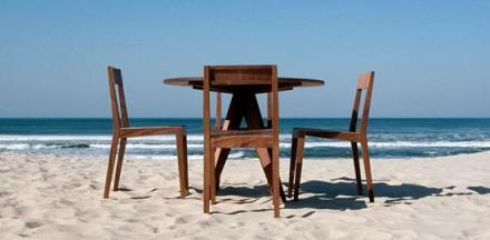 GreenByDesign Dining Table on Beach