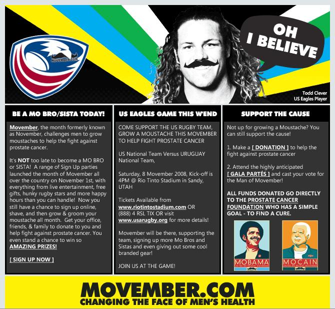 Introducing the Exciting Events and Features of the Movember Campaign - and check the MoBama & MoCain!